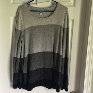 Black and grey sweater. Soft material!
